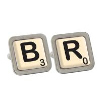 Personalised Initial and Age Cufflinks - ideal gift for birthdays